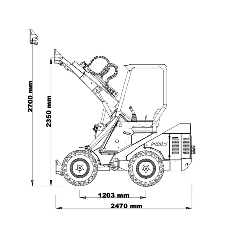 Ladowarka Cast 35T rysunek techniczny