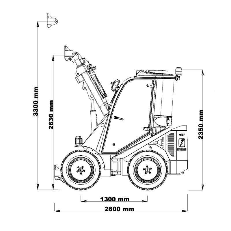 ładowarka Cast 45T rysunek techniczny